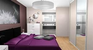 chambre prune et blanc trendy trendy decoration chambre With chambre aubergine et blanc