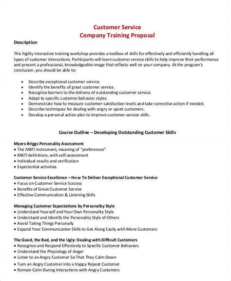 training business proposal templates  premium