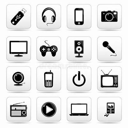 Icon Technology Button Icons Web Square Buttons