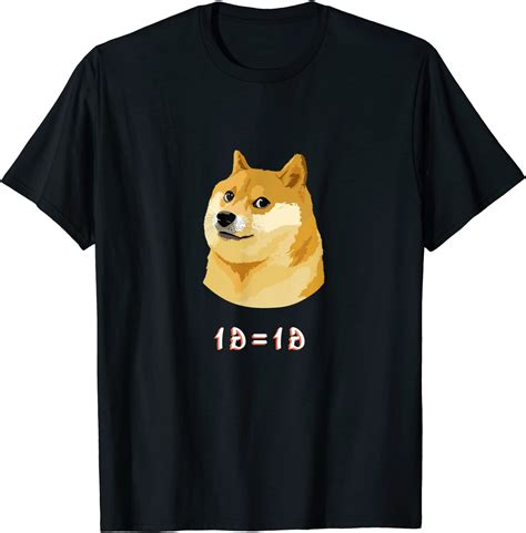 Amazon.com: Dogecoin Shirt Funny Doge Meme Cryptocurrency ...