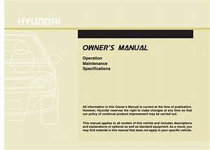 2013 Hyundai Accent Owner U0026 39 S Manual
