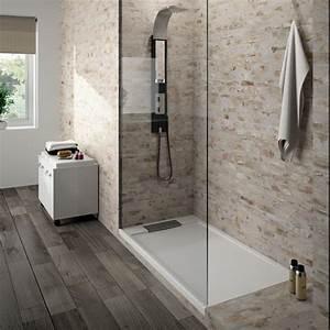 receveur de douche extra plat a l39italienne bac a douche With carrelage adhesif salle de bain avec baignoire balneo led