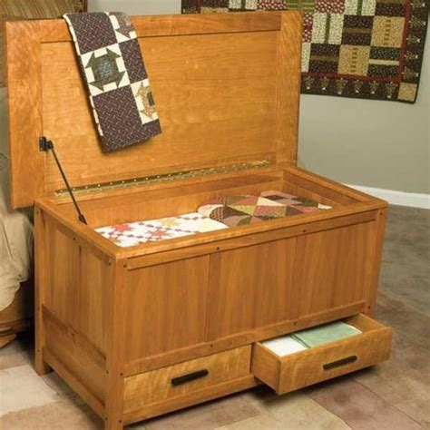 woodcraft magazine arts crafts blanket chest