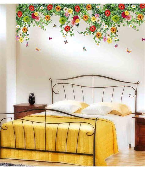 home design free app stickerskart multicolor bed room backdrop flowers