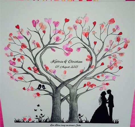 baum als geschenk zur hochzeit wedding tree herz fingerabdruck baum hochzeit geschenk leinwand 50x50 60x60cm wedding
