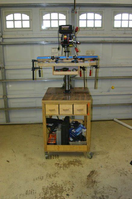 plans drill press table top plans  homemade