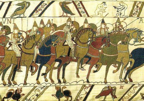 Tapisserie De Bayeux Histoire by Tapisserie De Bayeux Les Troupes De Guillaume Lors De La