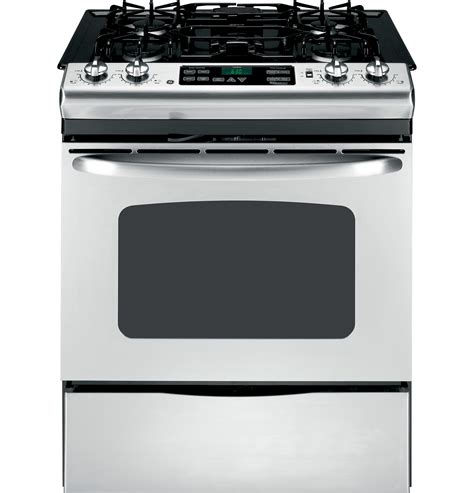 ge    gas range   cleaning oven