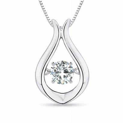 Diamond Pendant Solitaire Floating Necklaces Necklace Rocking