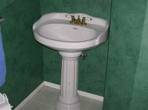 how to install a pedestal sink kitchen how to install a pedestal sink with gren wall