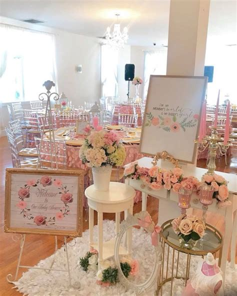 pretty pink  floral baby shower baby shower ideas