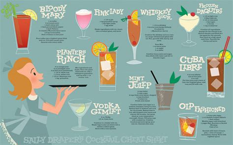 loungerati cocktails   mad men premiere july