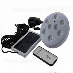 Solar panel powered led light remote control can be