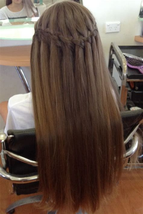 waterfall braid hairstyles  pictures styles