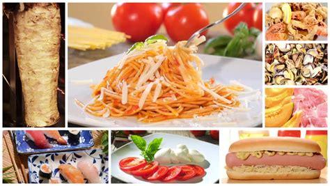 global cuisine international cuisine montage stock footage 8019739