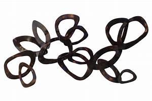 Wanddeko Metall Modern : abstrakte wanddeko in silber kaufen kunstloft ~ Frokenaadalensverden.com Haus und Dekorationen