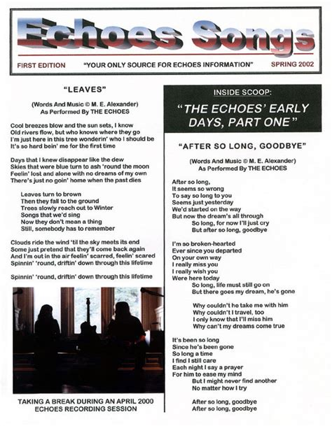 echophotos lyrics