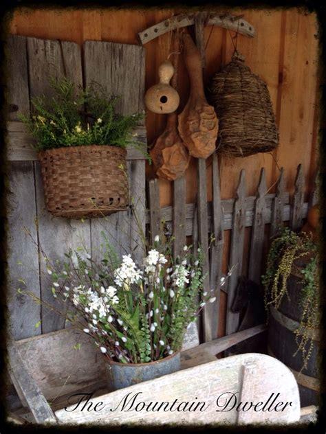 Spring Rustic Primitive Gardens Vignettes