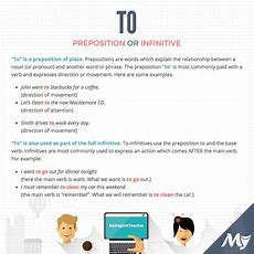 Is To An Article, Preposition Or Infinitive?  Myenglishteachereu Forum  Myenglishteachereu Forum