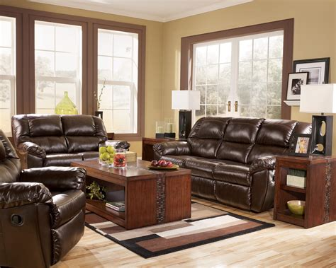 Rouge DuraBlend Mahogany Reclining Living Room Group by