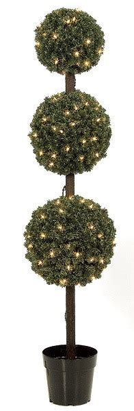 Artificial Topiary Trees, Outdoor Topiary, 5 Feet Triple