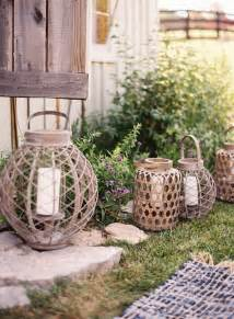 outdoor wedding reception decorations wire candle lanterns once wed