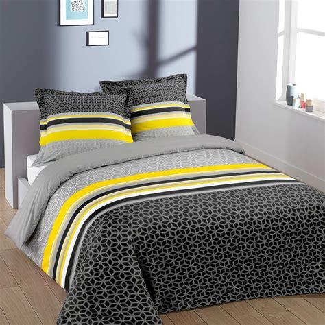 parure de lit gris parure de lit 2 personnes en coton geom 233 trique linge de