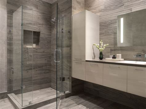 contemporary bathroom tile ideas modern bathroom gray white white floating vanity