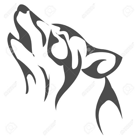 coyote clipart black and white coyote clipart wolf howl pencil and in color coyote