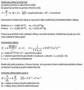 Elektrický náboj a elektrické pole test