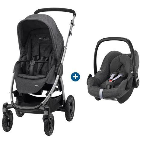poussette siege auto bebe duo poussette stella siege auto pebble de bébé confort