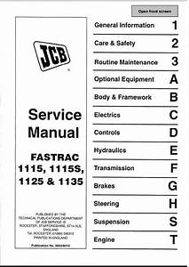 Jcb 1115 1115s 1125 1135 Fastrac Service Repair Manual