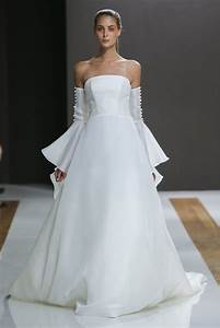 mark zunino off the shoulder a line bell sleeve wedding With bell sleeve wedding dress