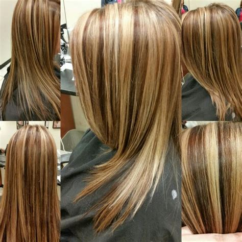 Foils Hairstyles by We Did 2 Foils Then 1 Brown Foil The Lowlights Are