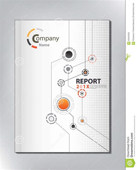 annual report cover in abstract design vector free abstract technology annual report cover design stock