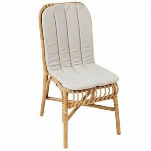 Siege En Rotin : coussin pour chaise val rie chaise rotin kok ~ Teatrodelosmanantiales.com Idées de Décoration