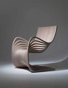 Beautiful and elegant wooden chair made from curved for Elegant chair design