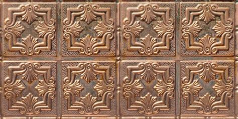 detailed fleur de lis copper ceiling tile 1202dd