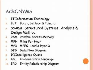 Acronyms  It Information Technology
