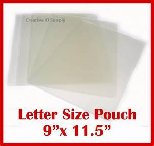 laminating pouches letter size 3 mil 9quot x 115quot high With letter pouch