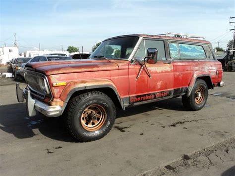 jeep cherokee orange buy used 1977 jeep cherokee no reserve in orange