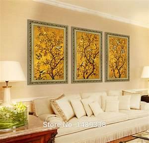 Wall art decor multi panel framed for living
