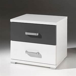 Table De Chevet Blanche Ikea : table de chevet blanche et grise ~ Nature-et-papiers.com Idées de Décoration