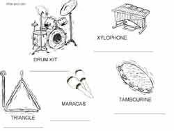 Free Coloring Pages Percussion Family