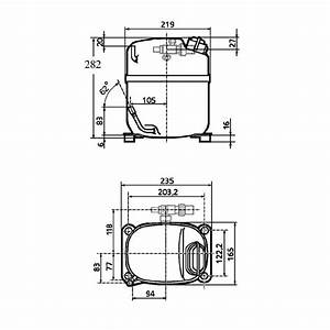 L Unite Hermetique Caj4517z Hbp R22 R404a Compressor Tubed Rotalock 240v 50hz