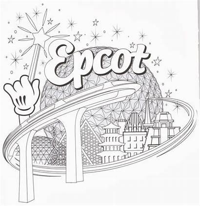Coloring Disney Pages Walt Epcot Clipart Kingdom