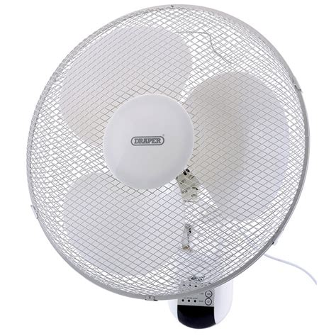 wall mount oscillating fan with remote draper 16 quot wall mounted remote controlled fan with tilt