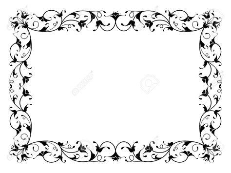Motif D'encadrement Floral Oriental Ornemental Déco Noir