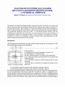 Footing Design Excel Footing With Biaxial Moments Cartesian Coordinate System