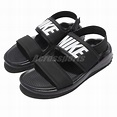 Wmns Nike Tanjun Sandal Black White Womens Fashion Sandals Slide 882694-001 | eBay
